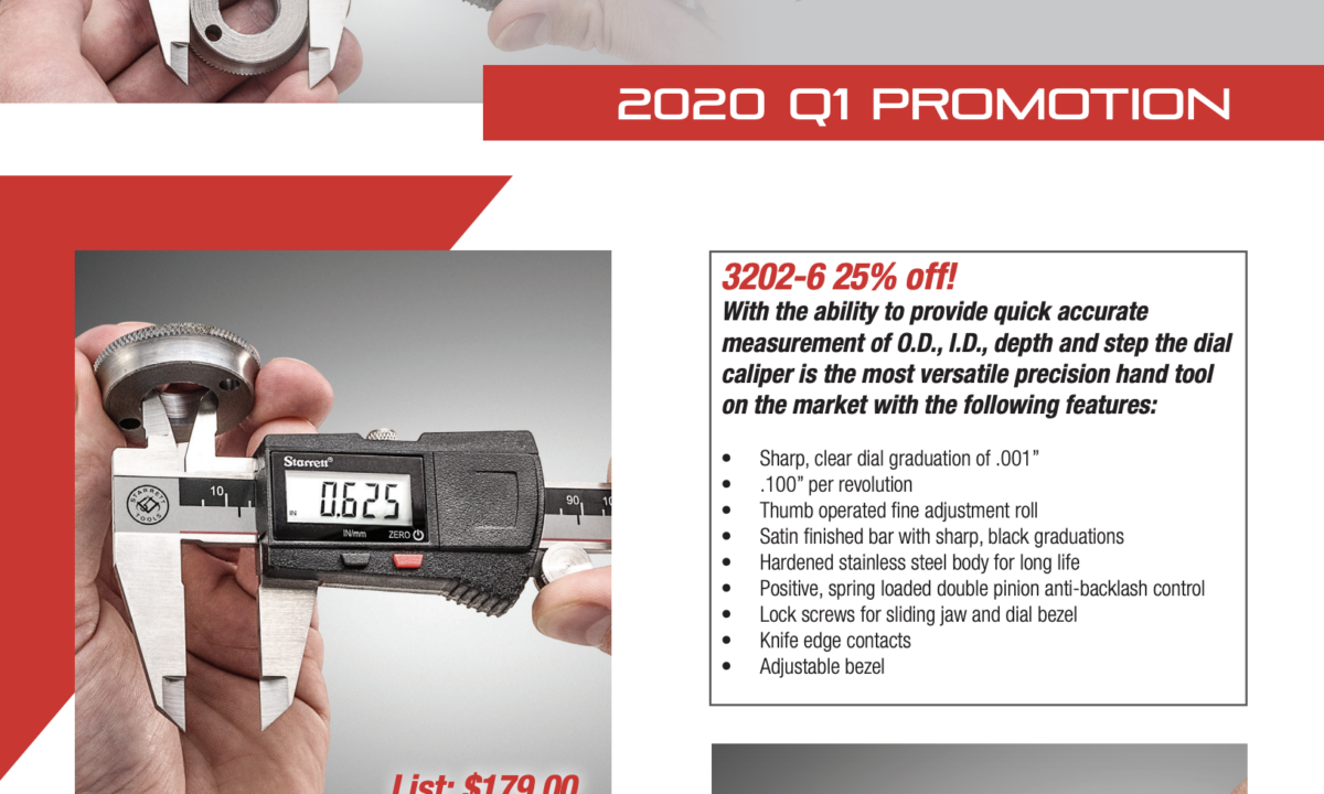 Starrett Promotion | Ends March 31, 2020